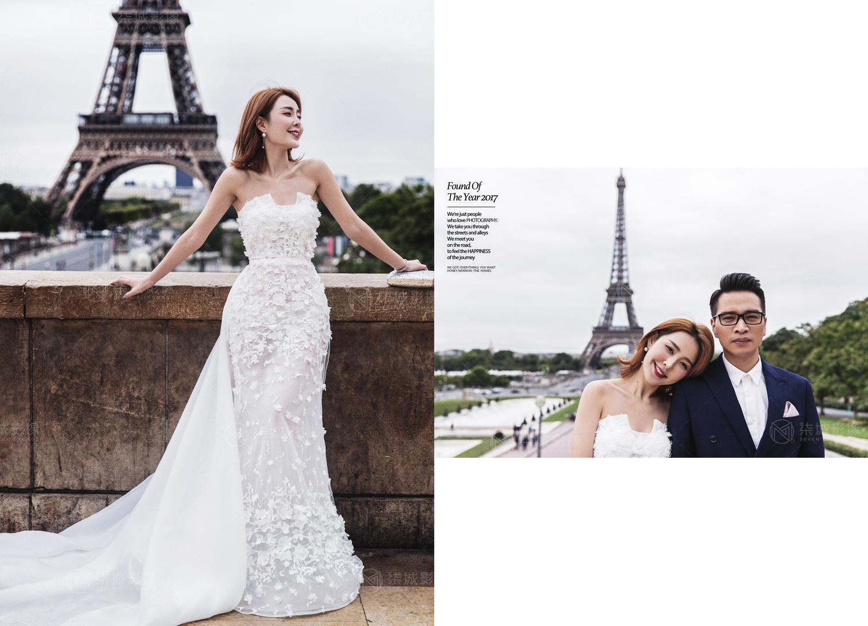 柒城影像法国巴黎旅拍婚纱照