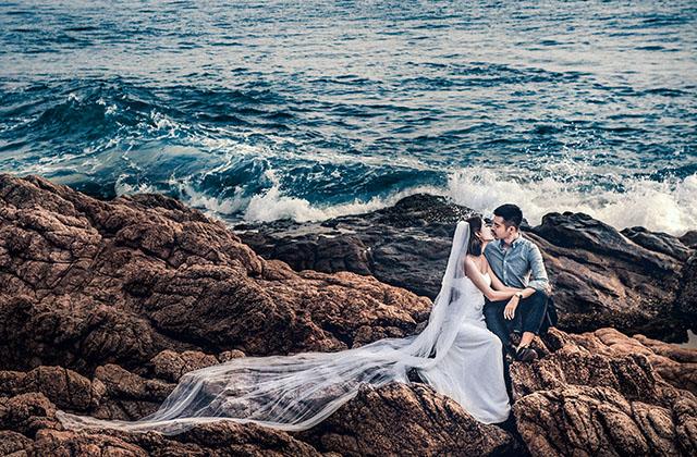 拍海景婚纱照注意事项—海口婚纱摄影