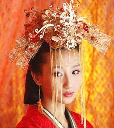 婚纱推荐 中式婚纱照新娘古装发型