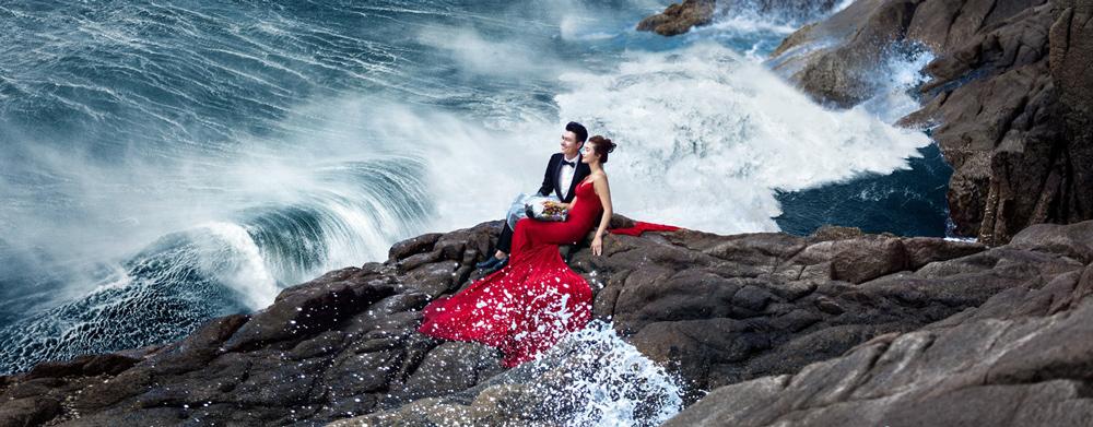 太原婚纱摄影—海边婚纱照的经典姿势