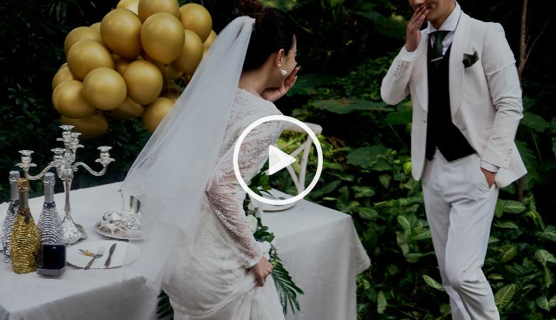 九五至尊vi婚纱摄影-新品发布 丛林婚礼