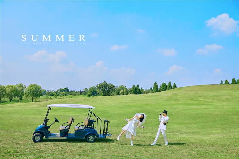 高尔夫草坪2.0系列  · 宫崎骏陪我们度过的记忆,我们把他的温暖刻进婚纱照里,突破二次元壁的画面,把婚纱照当作艺术品来