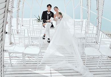 拍婚纱照如何拍摄出瘦新娘